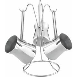 AKDENİZ - 3'lü Piramit Metal Kulp Cezve Takımı