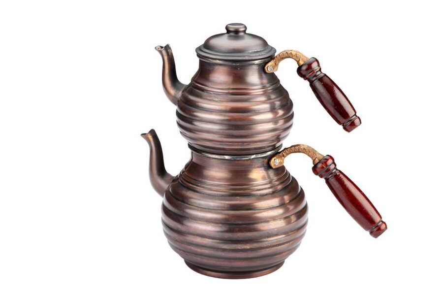 Dilimli Bakır Çaydanlık