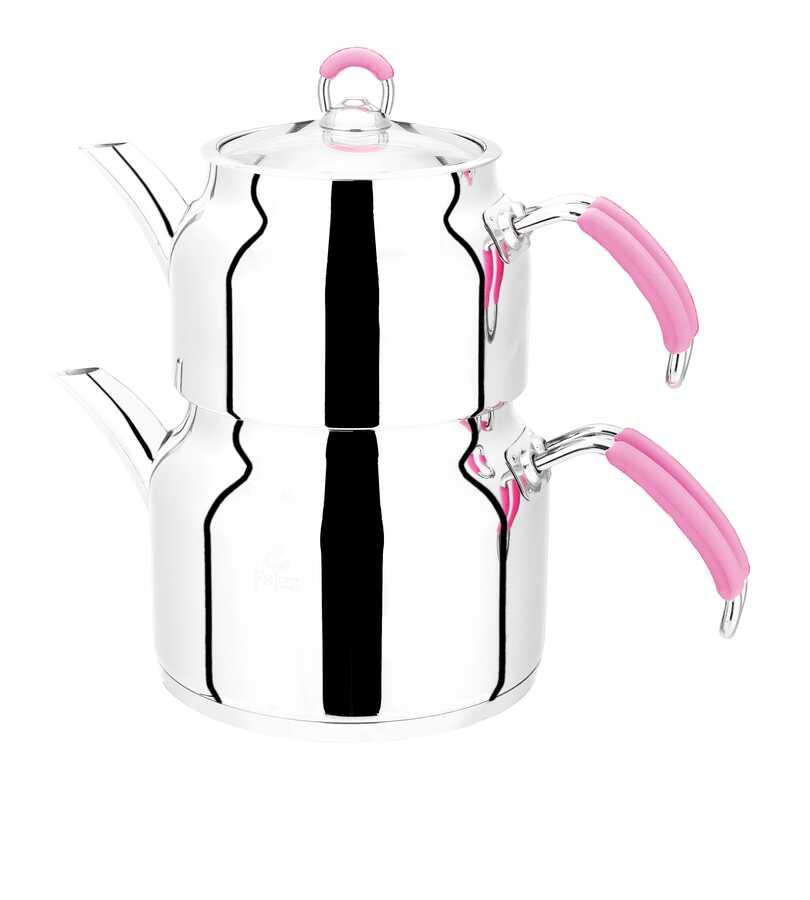 İmaj Pembe Silikon Kulp Çaydanlık Mini