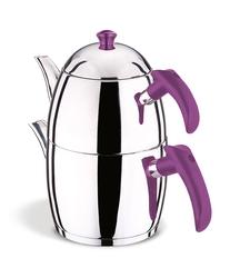AKDENİZ - Prestij Soft Şiraz Bakalit Kulp Aile Çaydanlık